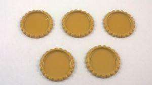 `Крышка, металл, внутренний диаметр 25 мм, наружный 31 мм, цвет №03