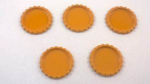 `Крышка, металл, внутренний диаметр 25 мм, наружный 31 мм, цвет №13 оранжевый