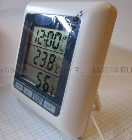 TM1011T комнатно-уличный термометр с часами