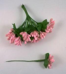 `Тычинки в связках перламутровые, цвет - светло-розовый (1 связка = 11-12 букетиков)