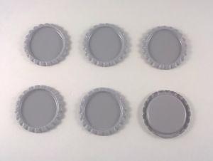 `Крышка, металл, внутренний диаметр 25 мм, наружный 31 мм, цвет №31 серый