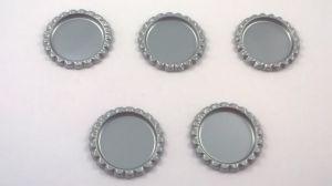 `Крышка, металл, внутренний диаметр 25 мм, наружный 31 мм, цвет №36 серебро