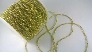 `Бусины на леске, диаметр бусин 3 мм, цвет золото