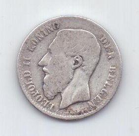 50 сантимов 1886 г. Бельгия