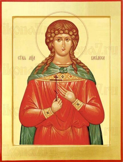 Василиса Никомидийская (рукописная икона)