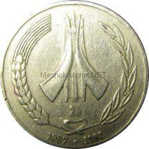 Алжир 1 динар 1987 г.
