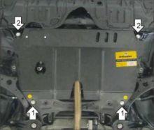 Защита картера и кпп, Motodor, сталь 2мм., V - 2.0, 2.5, 2.7л