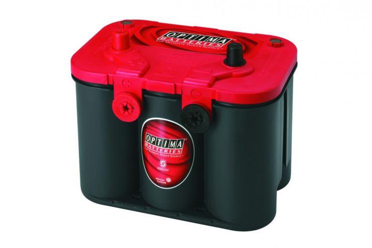 Автомобильный аккумулятор АКБ OPTIMA (Оптима) Red Top U 4.2 50Ач п.п. + доп. амер. клеммы