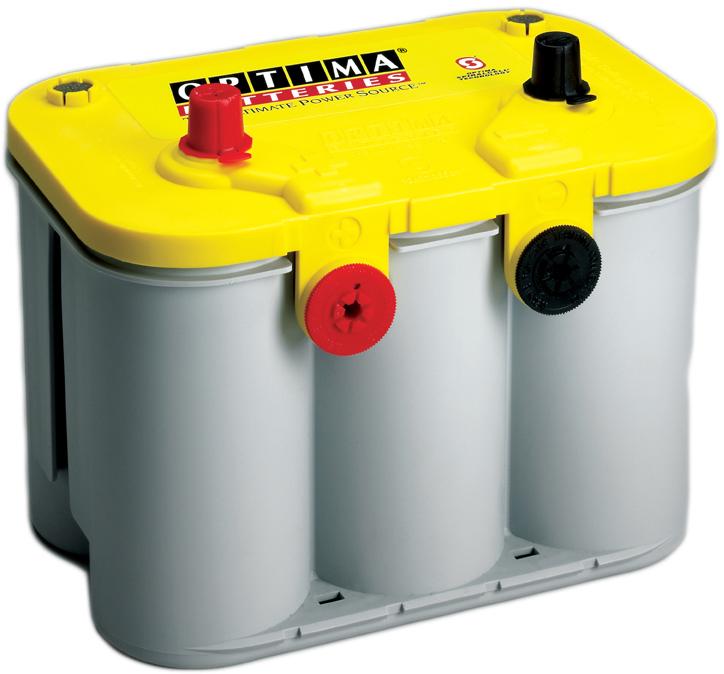Автомобильный аккумулятор АКБ OPTIMA (Оптима) Yellow Top U 4.2 55Ач п.п + доп.амер.клеммы