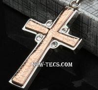Стальной нательный крестик