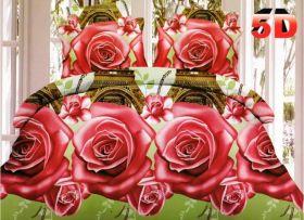 Постельное белье 3D Роза в Париже, Сатин, 1,5 спальное