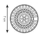 Фильтр для раковины из нержавеющей стали PRESTO o 7 см 115212