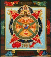 Икона Всевидящее Око (рукописная)