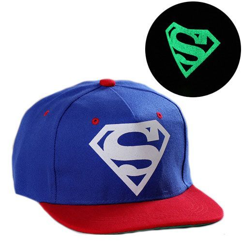 "Светящаяся кепка рэперка ""Супермен"" (синяя)"
