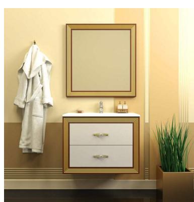 Комплект  мебели OPADIRIS КАРАТ 80 цвет белый/серебро или слон.кость/ золото
