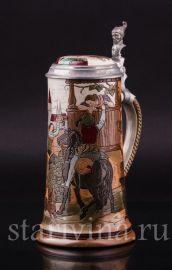 Прощание, пивная кружка, 1/2 л, Marzi & Remy, Германия, ок. 1900 г