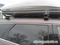 Багажник на крышу Audi Q5, Атлант, крыловидные аэродуги