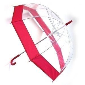 Зонт прозрачный (купол красный)