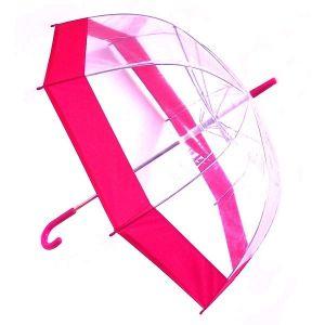 Зонт прозрачный (купол розовый)