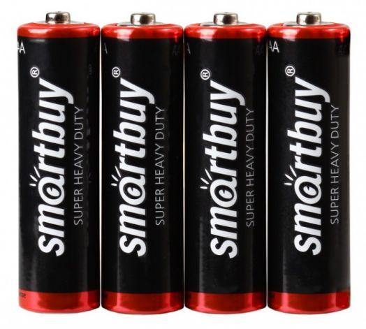 Батарейка солевая Smartbuy R6/4S (AA)