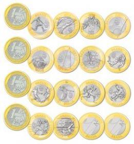 Олимпиада в Рио де Жанейро-2016 Набор из 16 монет 1 реал  2014-2016  Бразилия Альбом в подарок