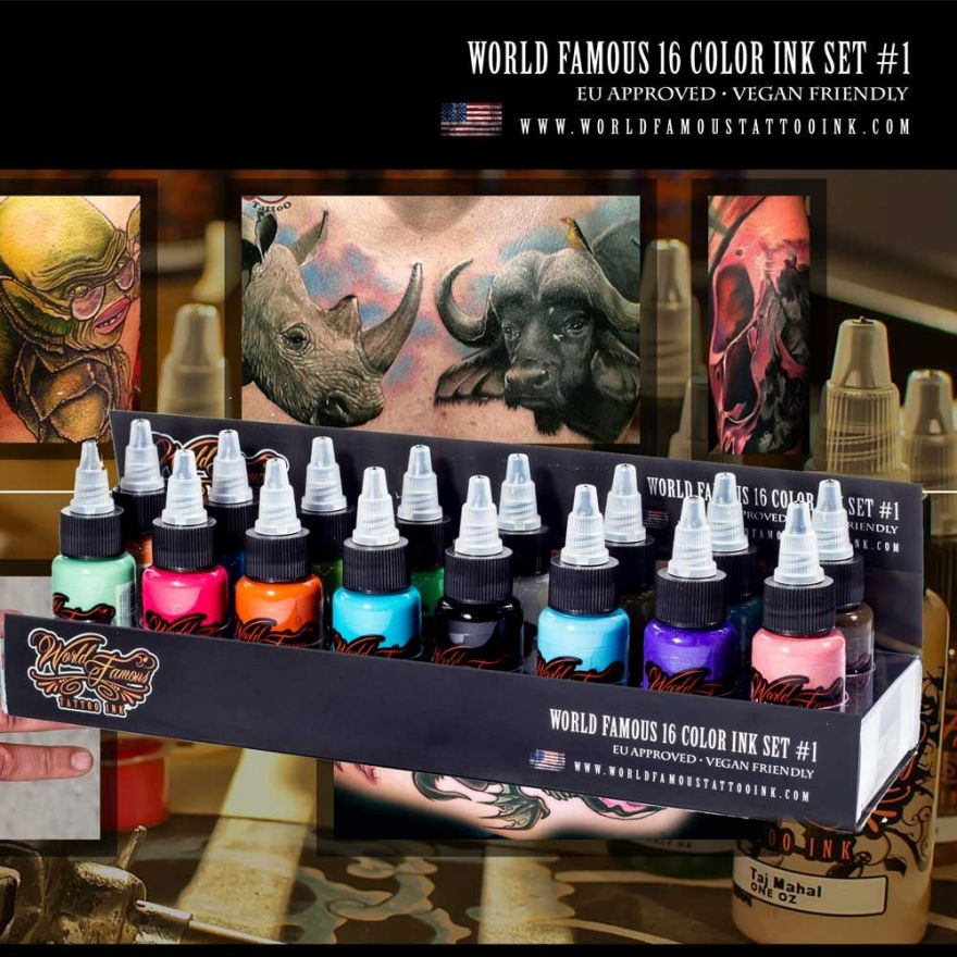 WORLD FAMOUS 16 COLOR INK SET #1