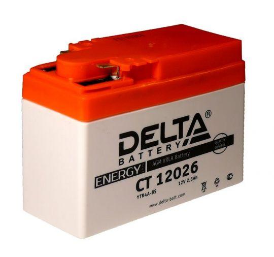 Мото аккумулятор АКБ Delta (Дельта) CT 12026 2.5Ач боковые клеммы YTR4A-BS