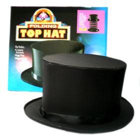 Top Hat Collapsible Складной цилиндр (чёрный) c потайным дном