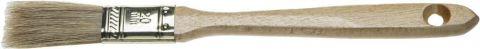 """Кисть плоская ЗУБР """"УНИВЕРСАЛ-ЭКСПЕРТ"""", натуральная щетина, деревянная ручка, 20мм"""