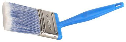 Кисть плоская ЗУБР ЭКСПЕРТ 2в1 БСГ-60 быстросъемная голова с переменн углом, тип АКВА искусств щетина, пласт ручка, 75мм