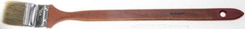"""Кисть радиаторная угловая ЗУБР """"УНИВЕРСАЛ-МАСТЕР"""", светлая натуральная щетина, деревянная ручка, 50мм"""