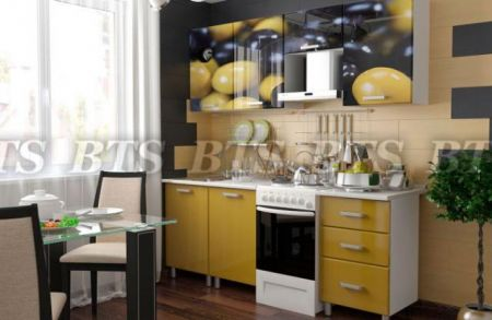 Кухонный гарнитур с фотопечатью «Олива» 2,1 м