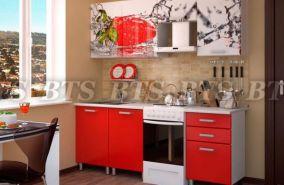 Кухонный гарнитур с фотопечатью «Клубника» 2,1 м