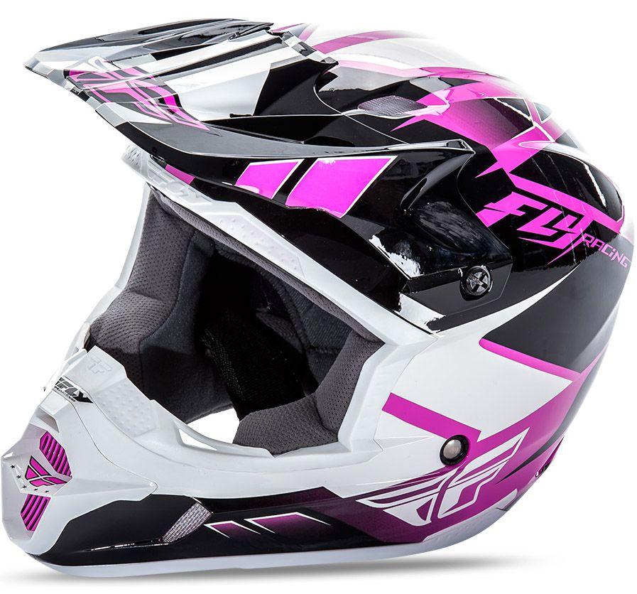 Fly - Kinetic Impulse шлем, розово-черно-белый