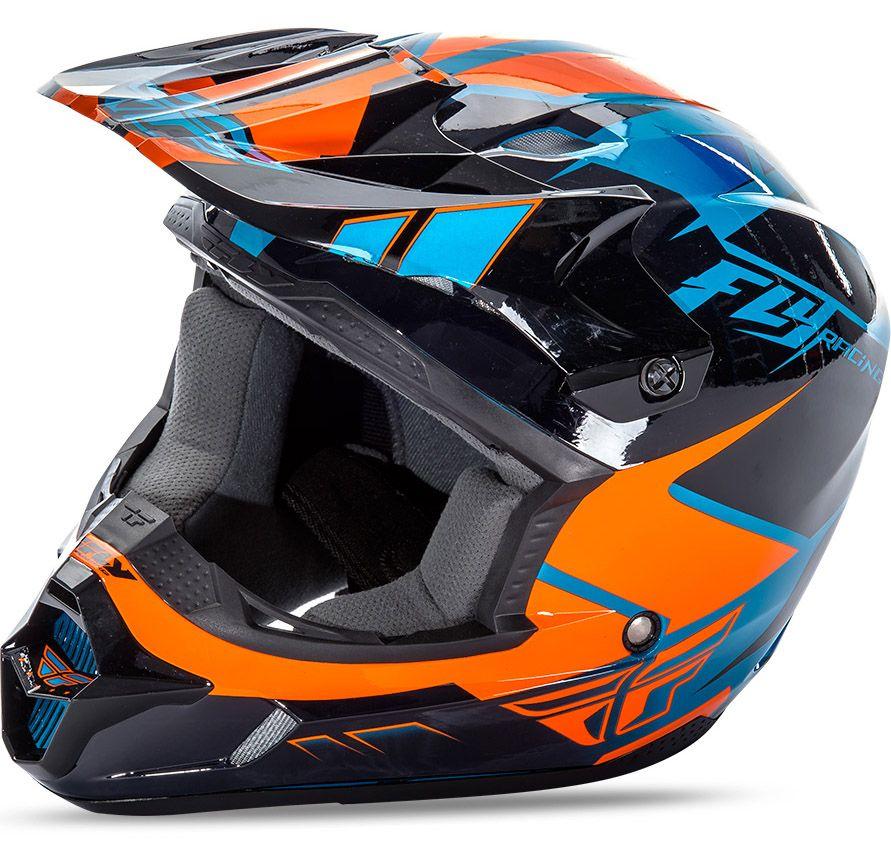 Fly - Kinetic Impulse шлем, сине-черно-оранжевый