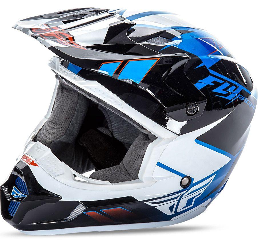 Fly - Kinetic Impulse шлем, сине-черно-белый