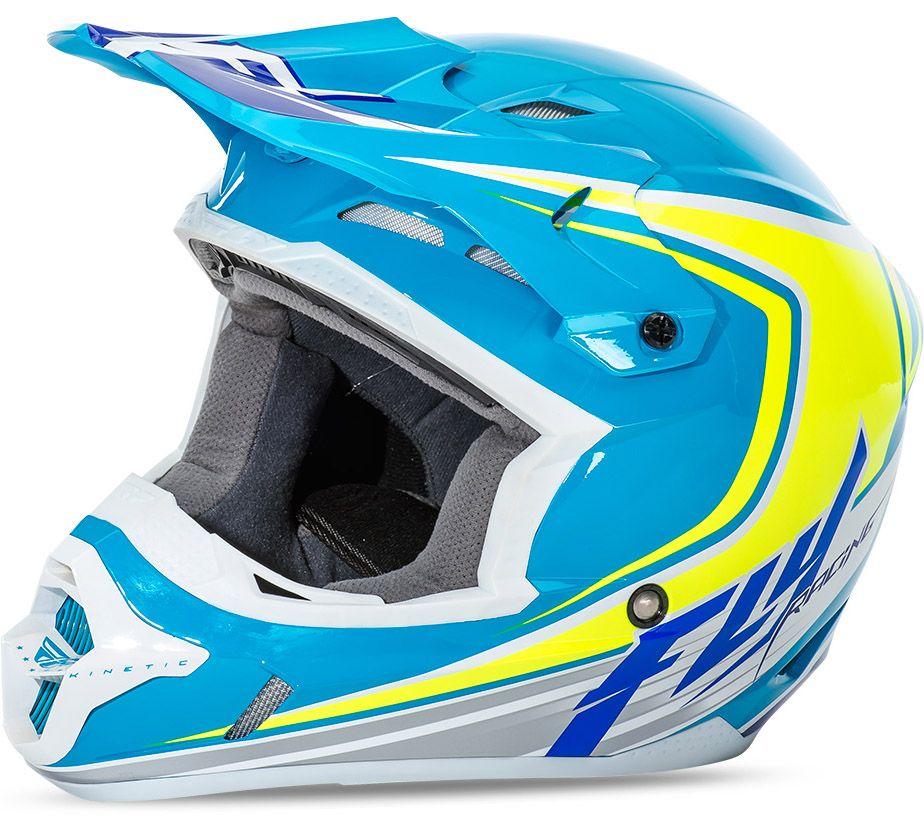Fly - Kinetic Fullspeed шлем, сине-желто-белый