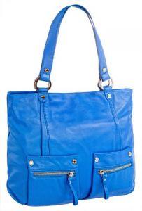 Синяя итальянская сумка