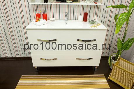 Тумба с раковиной напольная для ванной Коллекция Рио 120/2 см (SANFLOR)