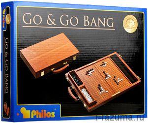 Игра Го в чемодане из Красного дерева