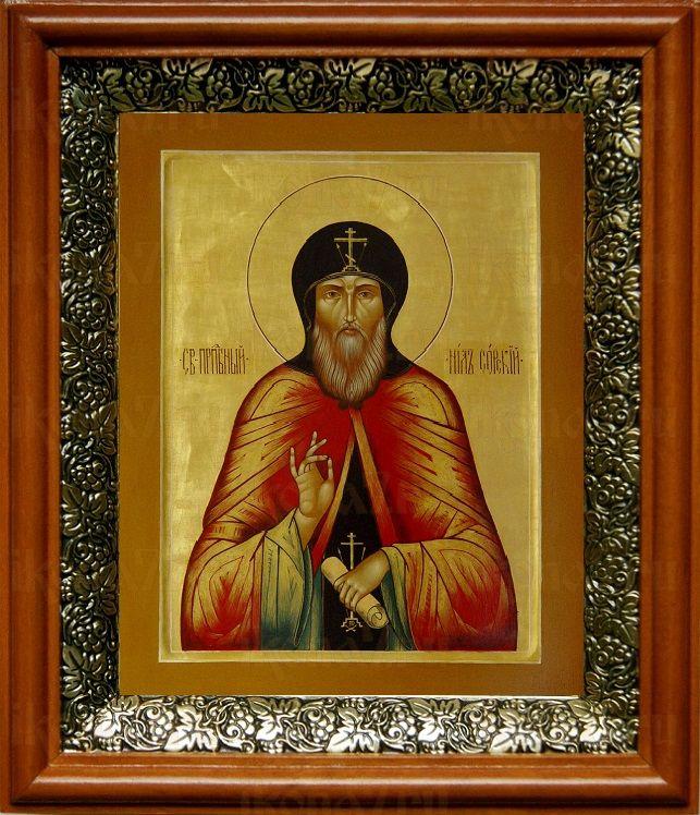 Нил Сорский (19х22), светлый киот