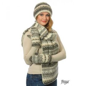 Комплект шапка, шарф, варежки 08114-27