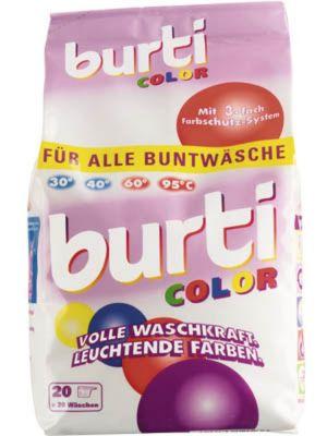 Немецкий стиральный порошок для цветного и тонкого белья Burti Color 1.5 кг