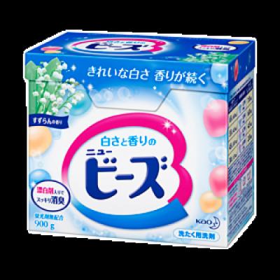 Японский порошок концентрат с эффектом отбеливания и ароматом ландыша KAO Beads 900г