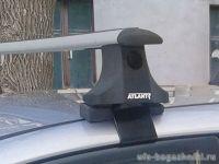 Багажник на крышу Hyundai Elantra 3, Атлант, крыловидные аэродуги