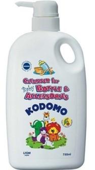 Японское средство для мытья детских бутылок и сосок 0+ Lion Kodomo