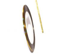 Широкая декоративная самоклеющаяся лента (2 мм) Цвет: золото
