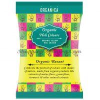 Натуральная краска Холи желтая Органикa (Organica Basant Yellow Herbal Holi Color)
