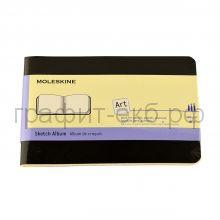 Книжка зап.Moleskine Pocket Cahier рисунки черный ARTSKA2