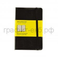 Книжка зап.Moleskine Pocket Classic клетка черная MM712